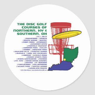 Ohio Kentucky Disc Golf Classic Round Sticker