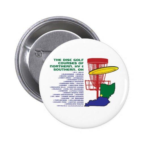 Ohio Kentucky Disc Golf Pinback Buttons