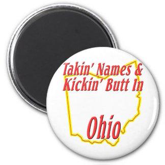 Ohio - Kickin' Butt 2 Inch Round Magnet