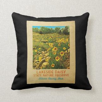 Ohio Lakeside Daisy Preserve Throw Pillow
