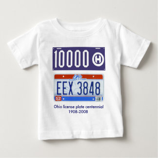 Ohio license plate centennial baby T-Shirt