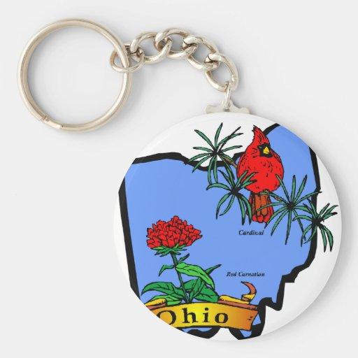Ohio Llavero Redondo Tipo Pin
