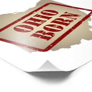 Ohio llevado - sello en mapa foto