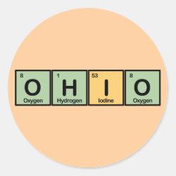 Round Sticker with Ohio design