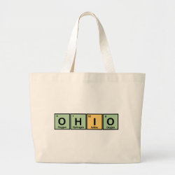 Jumbo Tote Bag with Ohio design
