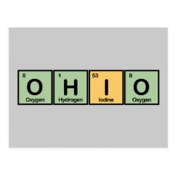 Postcard with Ohio design