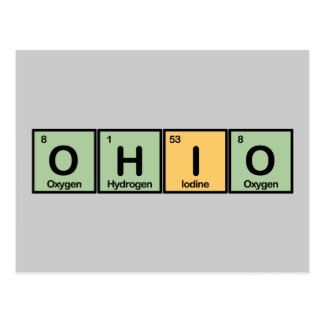 Ohio made of Elements Postcard