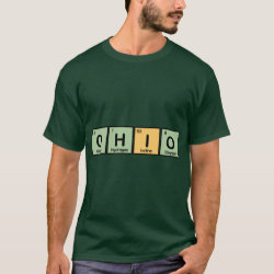 Men's Basic Dark T-Shirt with Ohio design