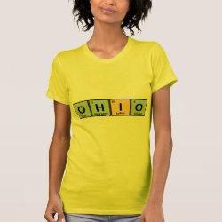 Women's American Apparel Fine Jersey Short Sleeve T-Shirt with Ohio design