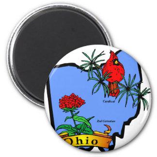 Ohio 2 Inch Round Magnet