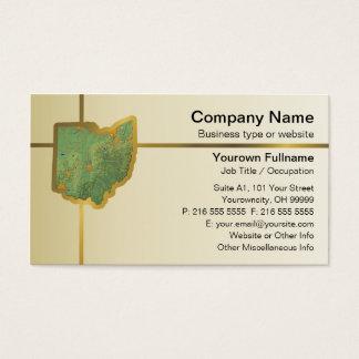 Ohio Map Business Card