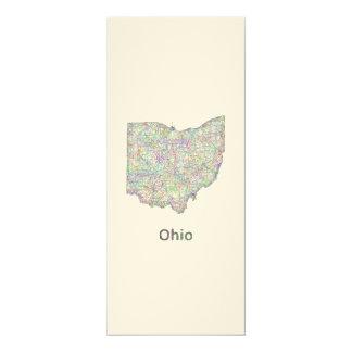 Ohio map card