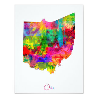 Ohio Map Card