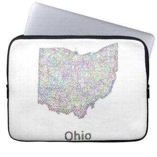 Ohio map computer sleeves