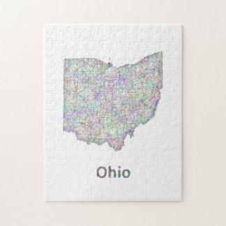 Ohio map jigsaw puzzle