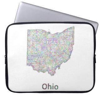 Ohio map laptop sleeve