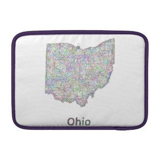 Ohio map MacBook air sleeves