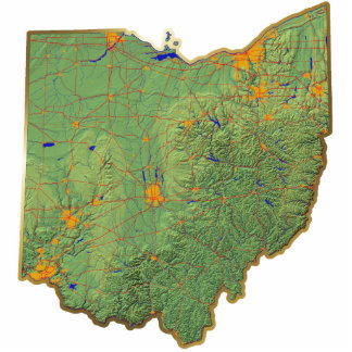 Ohio Map Magnet Cut Out