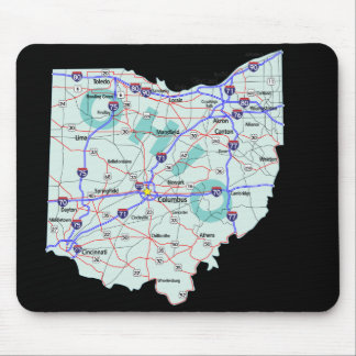Ohio Map Mousepad