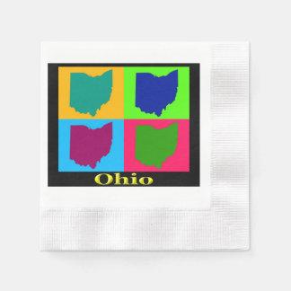 Ohio Map Napkin