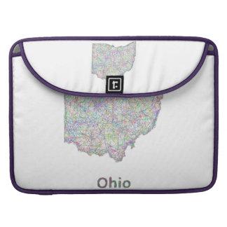 Ohio map sleeve for MacBooks