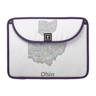Ohio map sleeves for MacBooks