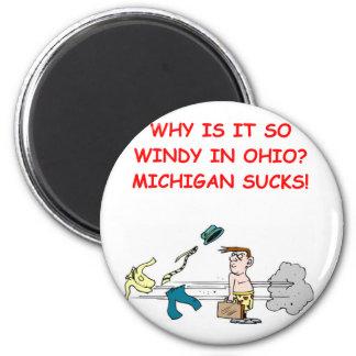 ohio michigan joke 2 inch round magnet