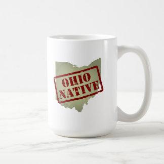 Ohio Native Stamped on Map Coffee Mug