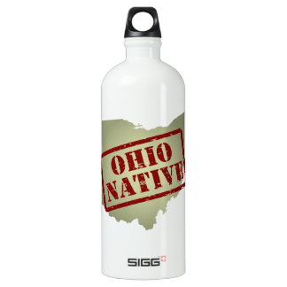 Ohio Native Stamped on Map Water Bottle