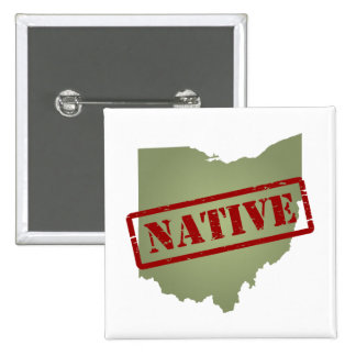 Ohio Native with Ohio Map Pinback Buttons