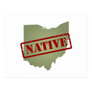 Ohio Native with Ohio Map Postcard