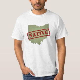 Ohio Native with Ohio Map T-shirt