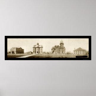Ohio Northern University Ada Photo 1912 Poster
