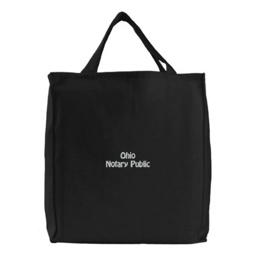 Ohio Notary Public Embroidered Bag