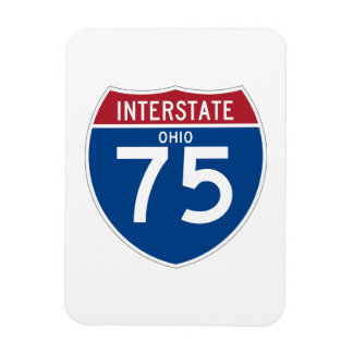 Ohio OH I-75 Interstate Highway Shield - Magnet