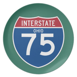 Ohio OH I-75 Interstate Highway Shield - Plate