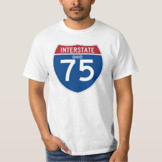 Ohio OH I-75 Interstate Highway Shield - T-Shirt