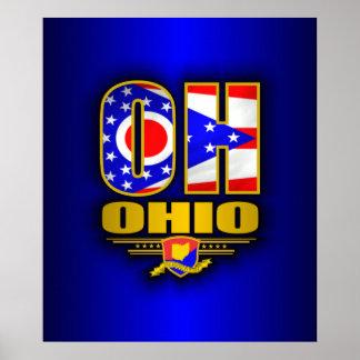 Ohio OH Print