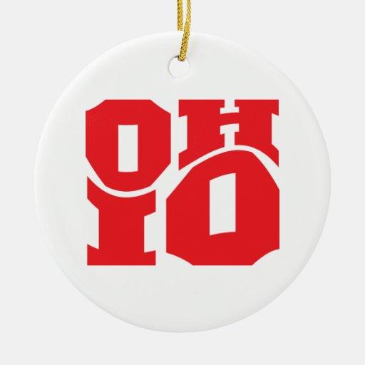 Ohio Ornamento Para Arbol De Navidad