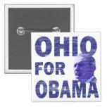 Ohio para el botón cuadrado de Obama Pinback Pin