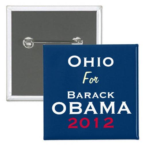 OHIO para el botón de la campaña de OBAMA 2012 Pins