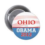 OHIO para Obama 2012 Pin