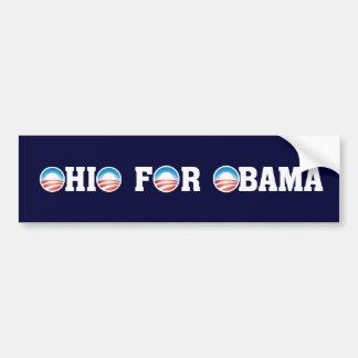 Ohio para Obama Pegatina Para Auto