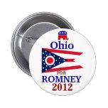 Ohio para Romney 2012 Pin Redondo 5 Cm