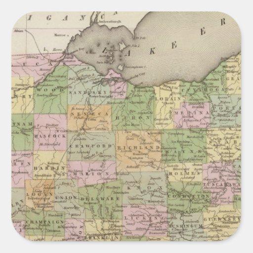Ohio Pegatina Cuadrada