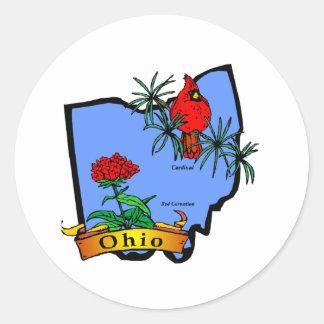 Ohio Pegatina Redonda