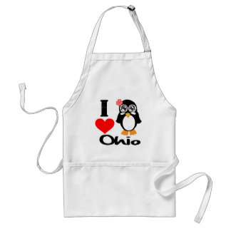 Ohio Penguin - I Love Ohio Adult Apron