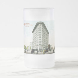 Ohio & Pennsylvania Streets, Indianapolis, Indiana Frosted Glass Beer Mug