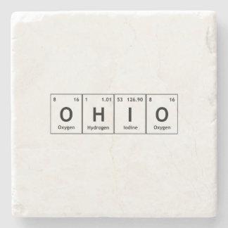 OHIO Periodic Table Elements Word Chemistry Symbol Stone Coaster