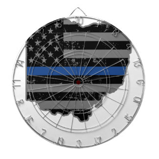 Ohio Police & Law Enforcement Thin Blue Line Dart Boards